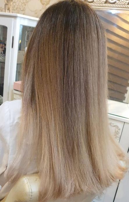 آمبره روسی ، رنگ و مش ، آموزش رنگ مو، دوره رنگ و مش